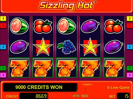 Play the sizzling hot online slot game to get more money